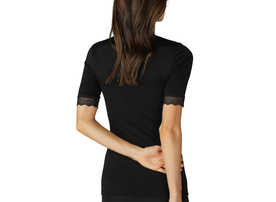 Silk Touch Wool Shirt Black
