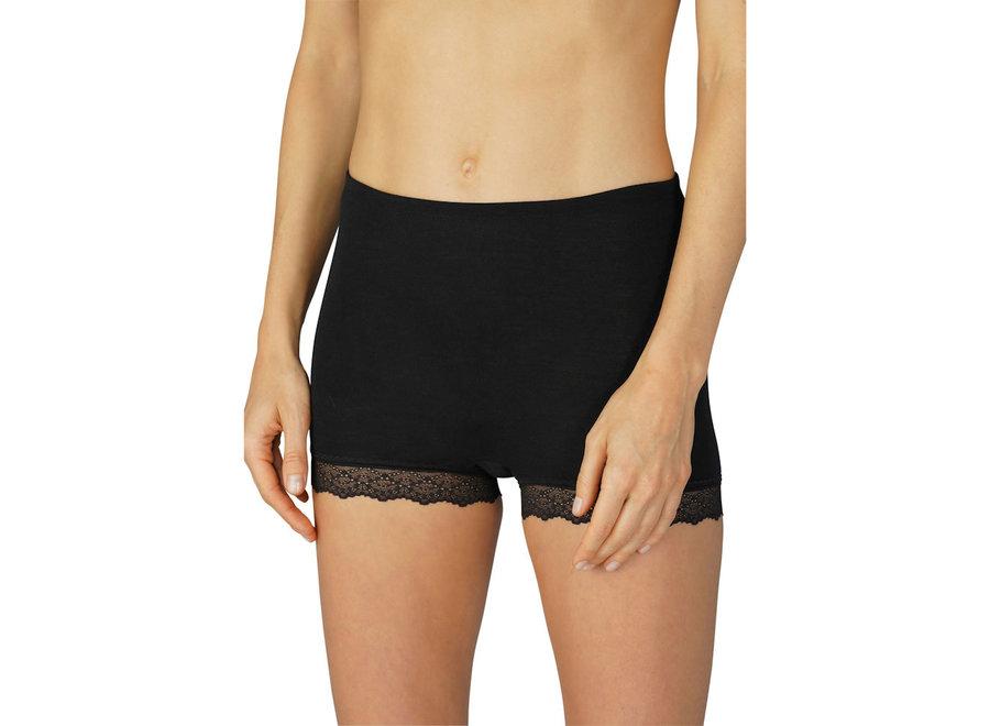 Silk Touch Wool Retro Pants Mid Black