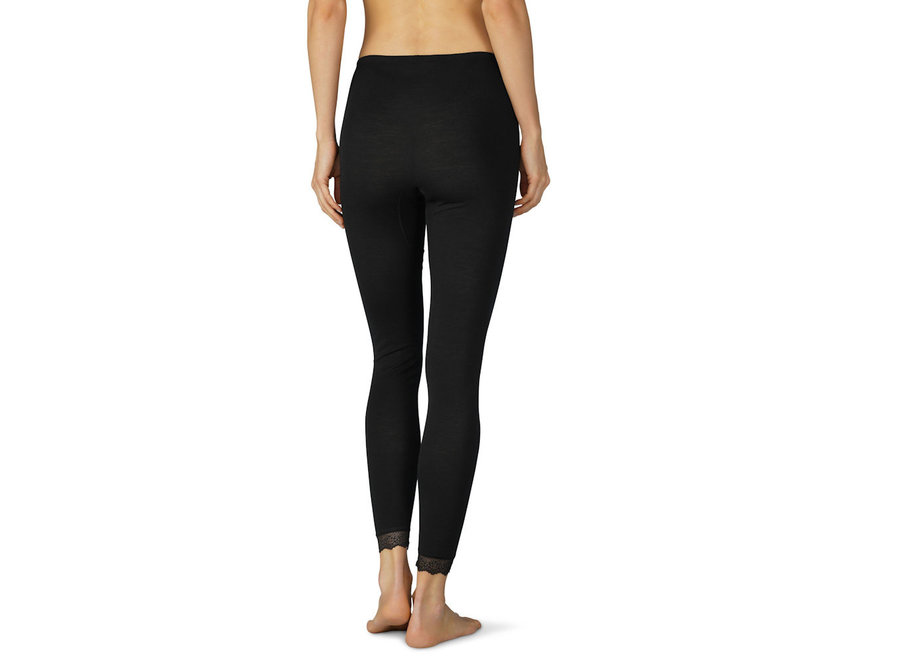 Silk Touch Wool Leggings 7/8 Mid Black