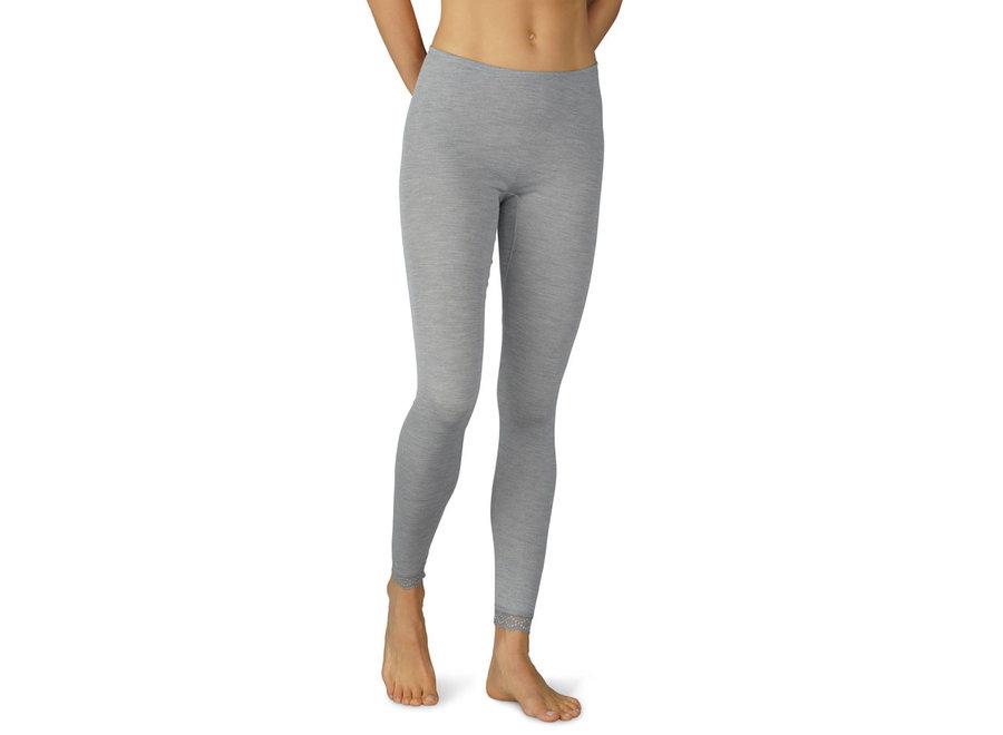 Silk Touch Wool Leggings 7/8 Mid Grey Melange