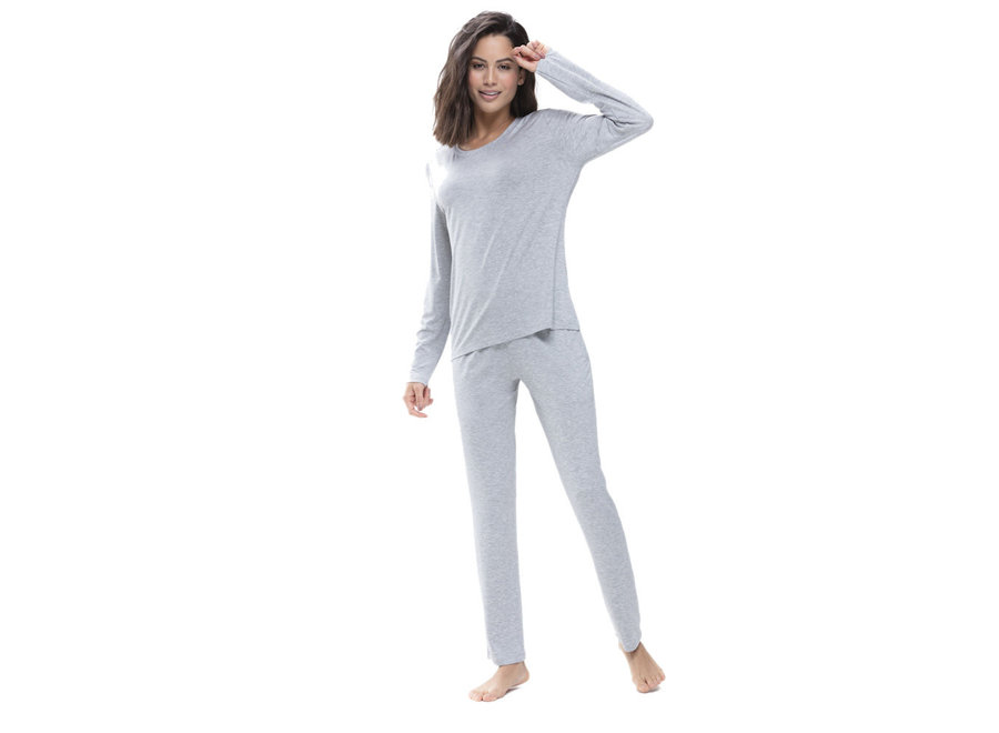 Sleepy & Easy Long Pants Hellgrau Melange