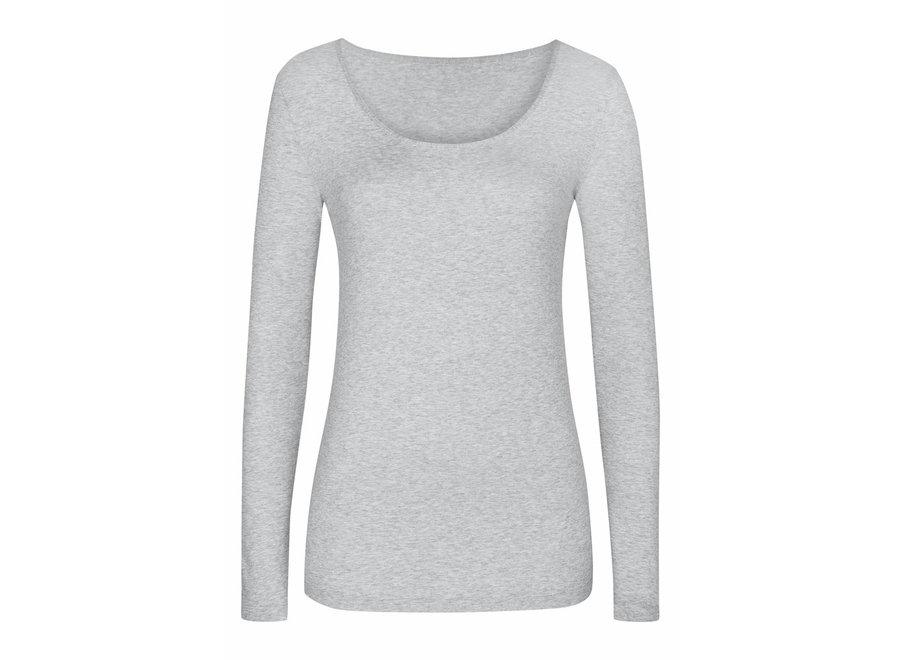 Cotton Pure Shirt Grau Melange