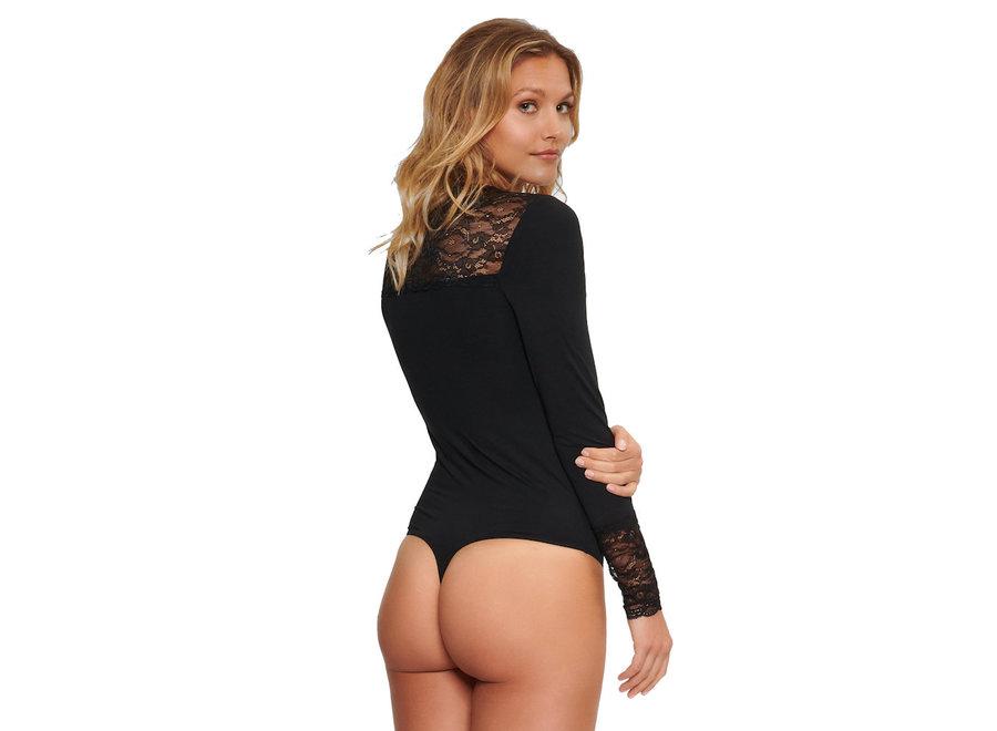Laurel Lace Micro Body Black
