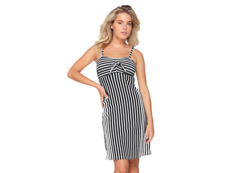 Beach Dress Black White Print
