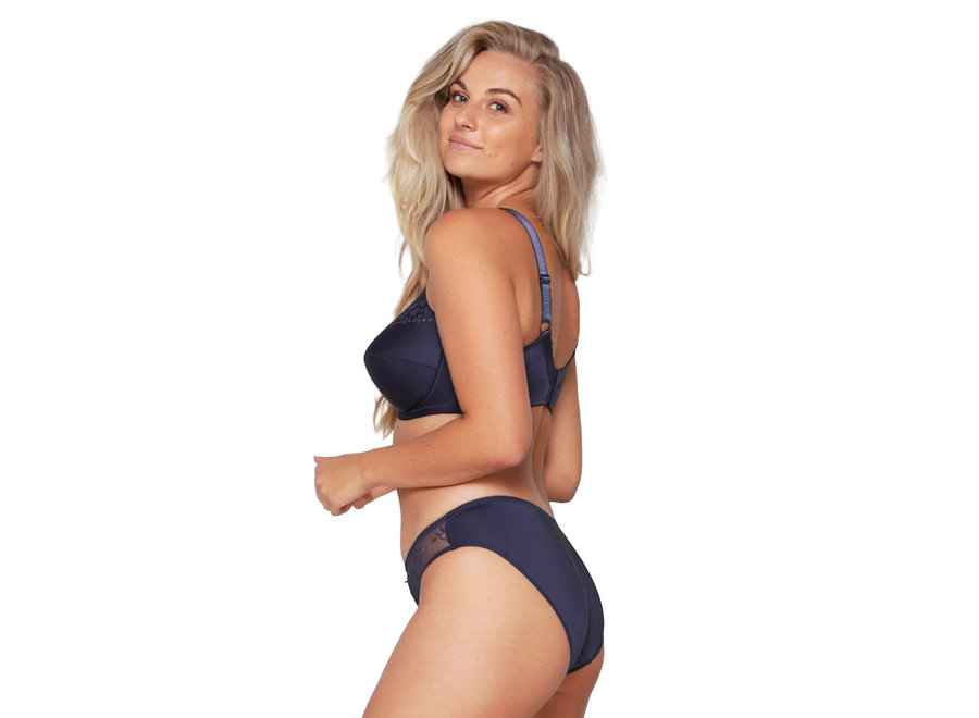 Lisette Bra With Underwire With Cotton Navy