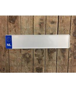 Kentekenplaat Witte Kentekenplaat met Euro NL teken