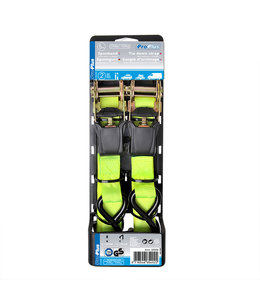 ProPlus Spanband met ratel +twee haken 5 meter