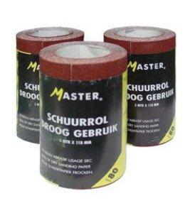 Master Schuurpapier P80 5m rol 118mm