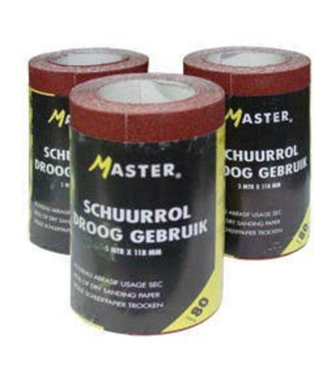 Master Master Schuurpapier P80 5m rol 118mm