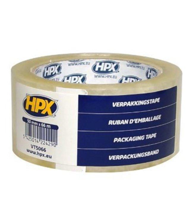 HPX Verpakkingstape Transparant 50mm x 66m