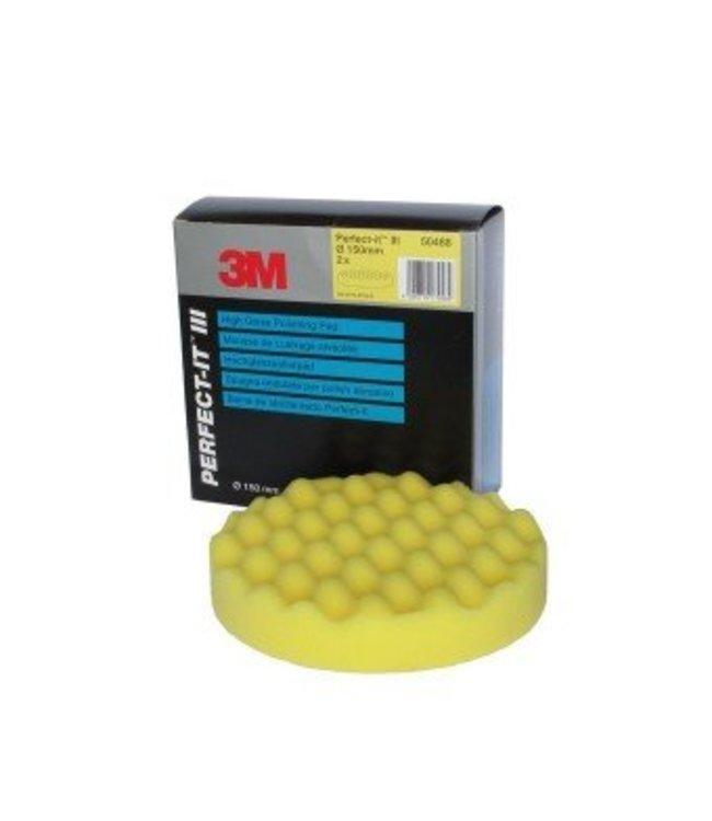 3M Perfect-it III Wafelpad 150 MM 1st Geel