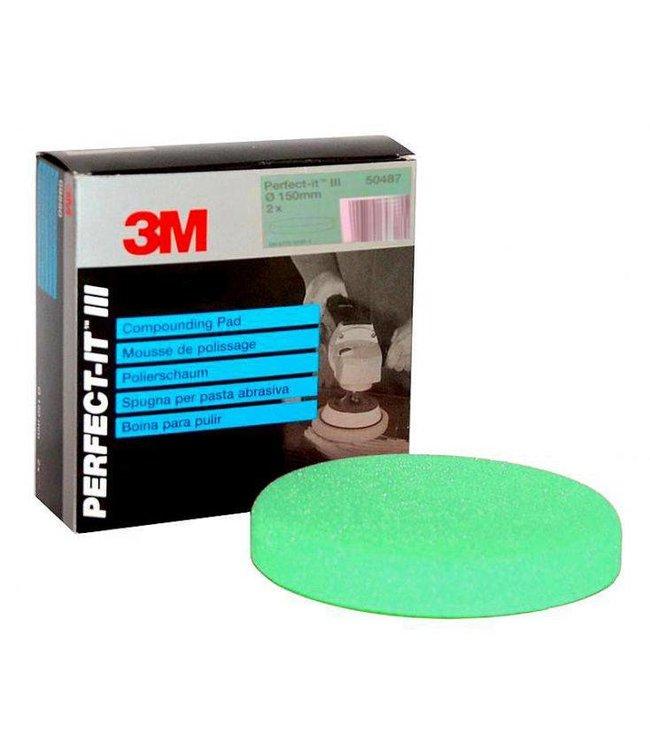 3M Perfect-it III Wafelpad 150 MM 1st Groen