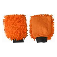 Washandschoen microvezel oranje