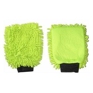 Huismerk Washandschoen microvezel groen