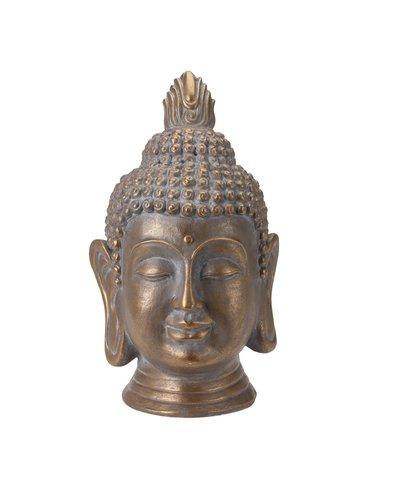 Boeddha hoofd goudkleur (74.5 cm)