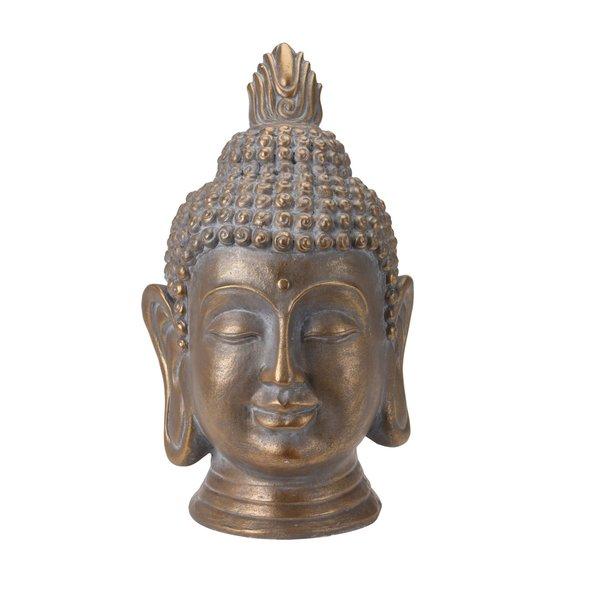 Boeddha hoofd goudkleur (53 cm)