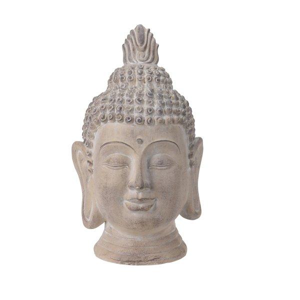 Boeddha hoofd cremekleur (53 cm)