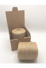 HollandWool Jute touw 500 gr. = 200 m. - kleur naturel - 2.5 mm. dik