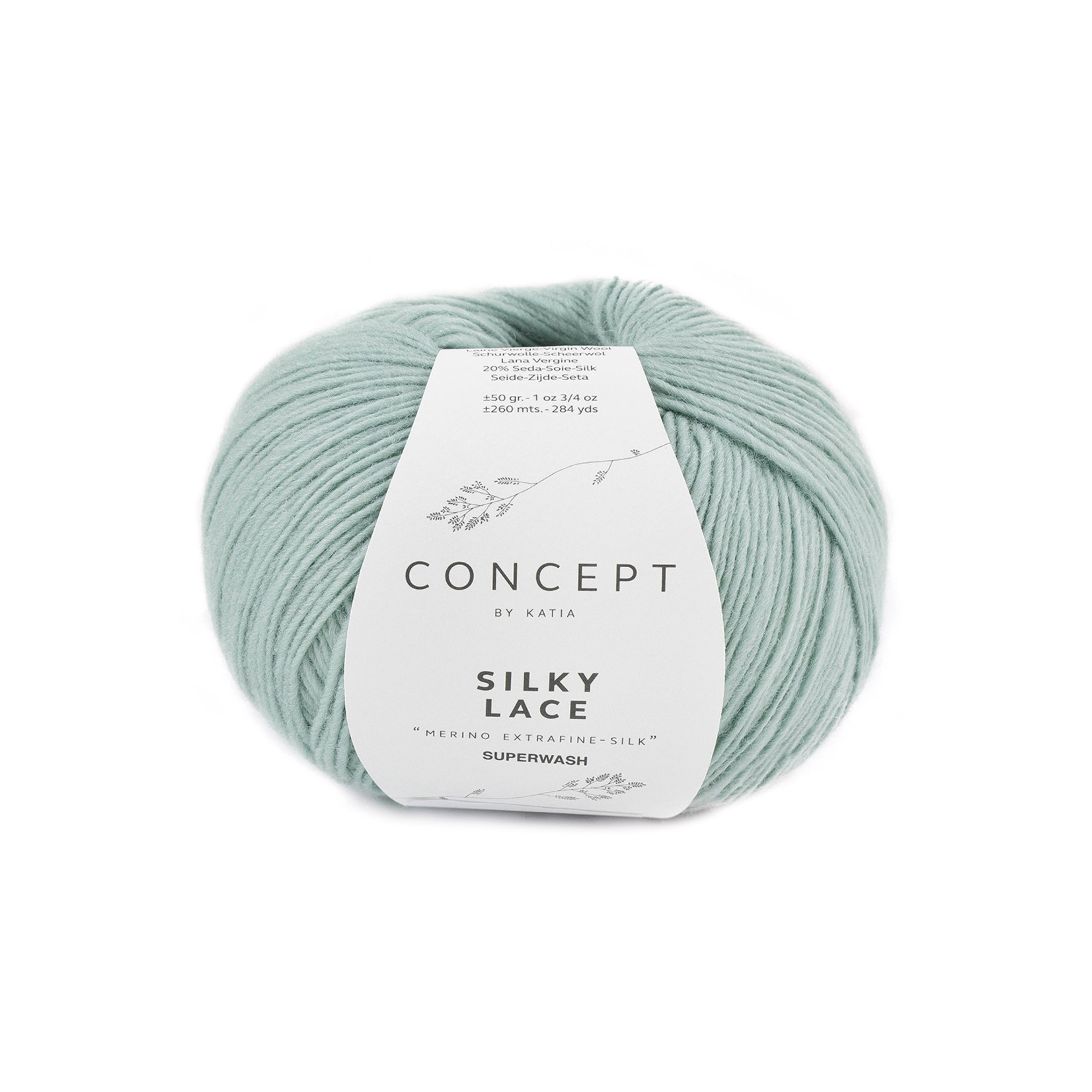 Katia Katia - Silky Lace - kleur 177 - Witgroen - 50 gr. = 260 m.
