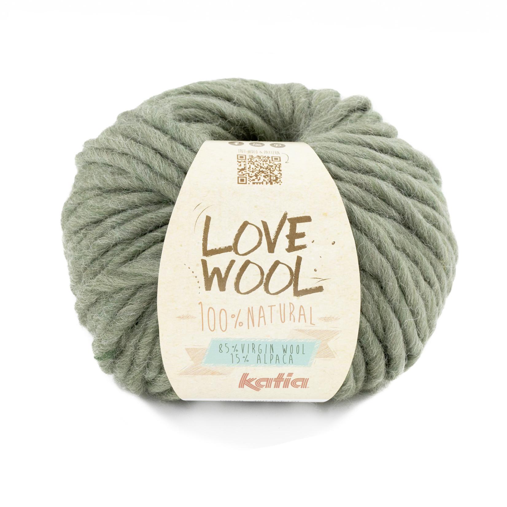 Katia Katia - Love Wool - kleur 127 - Resedagroen - 100 gr. = 50 m.