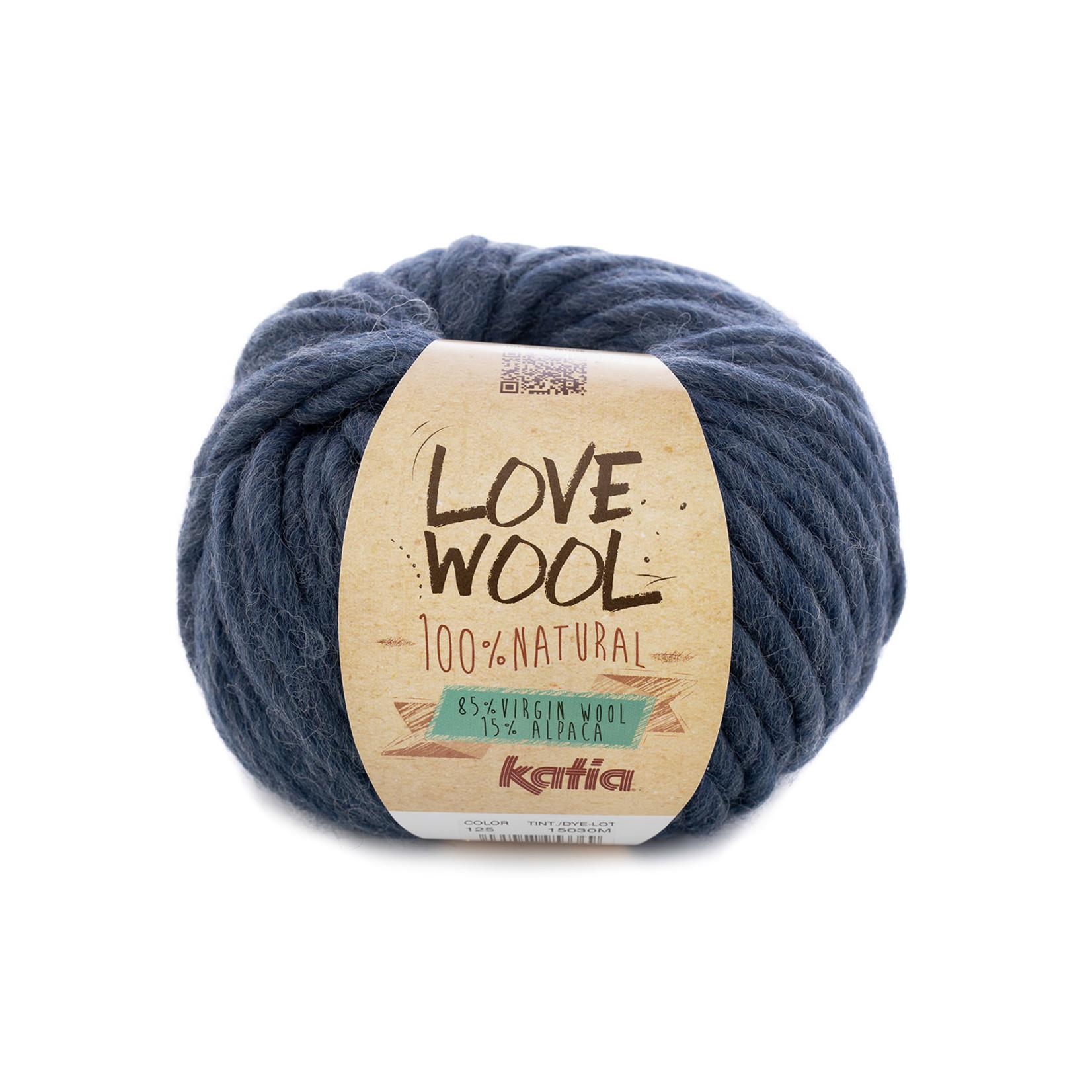 Katia Katia - Love Wool - kleur 125 - Jeans - 100 gr. = 50 m.