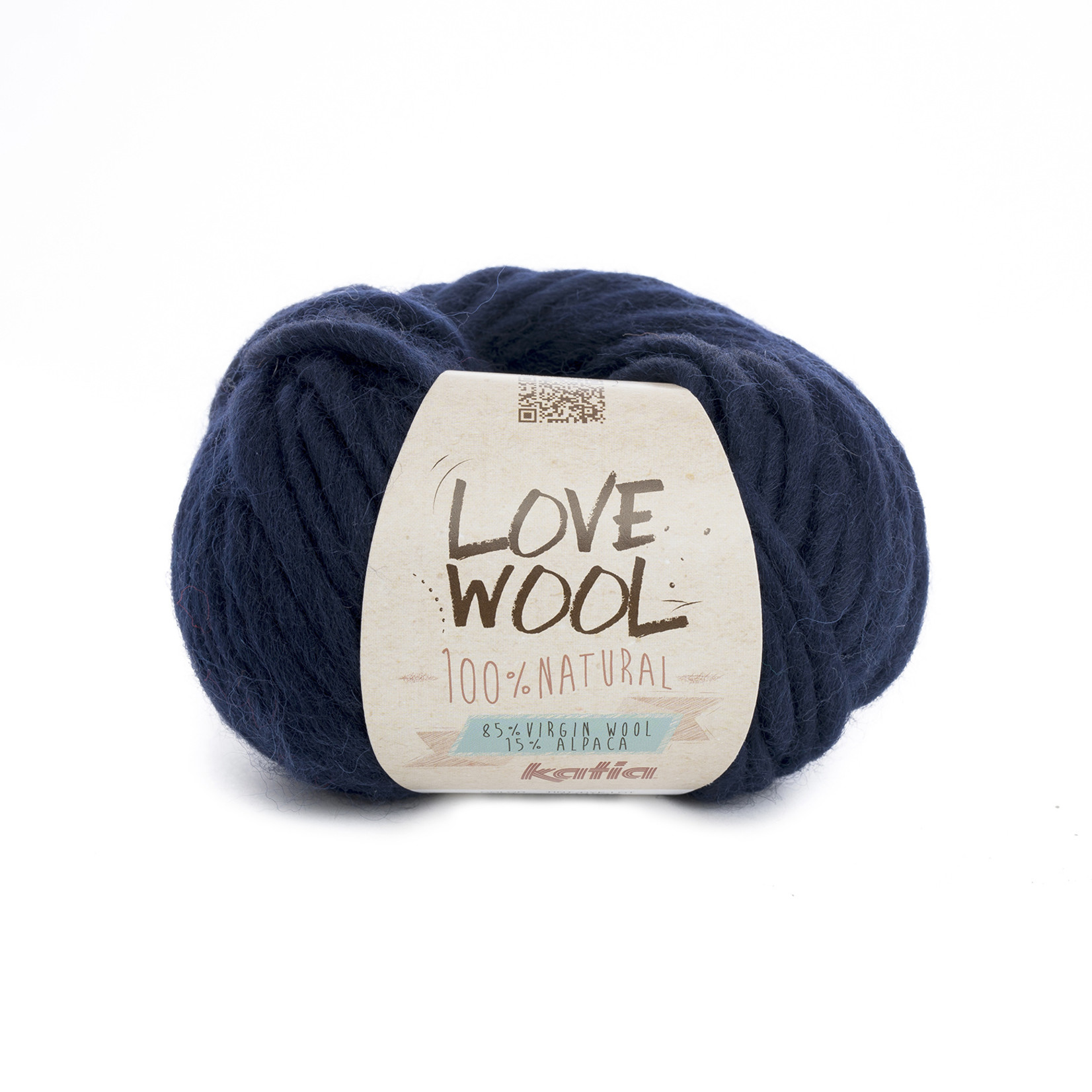 Katia Katia - Love Wool - kleur 121 - Donker blauw - 100 gr. = 50 m.