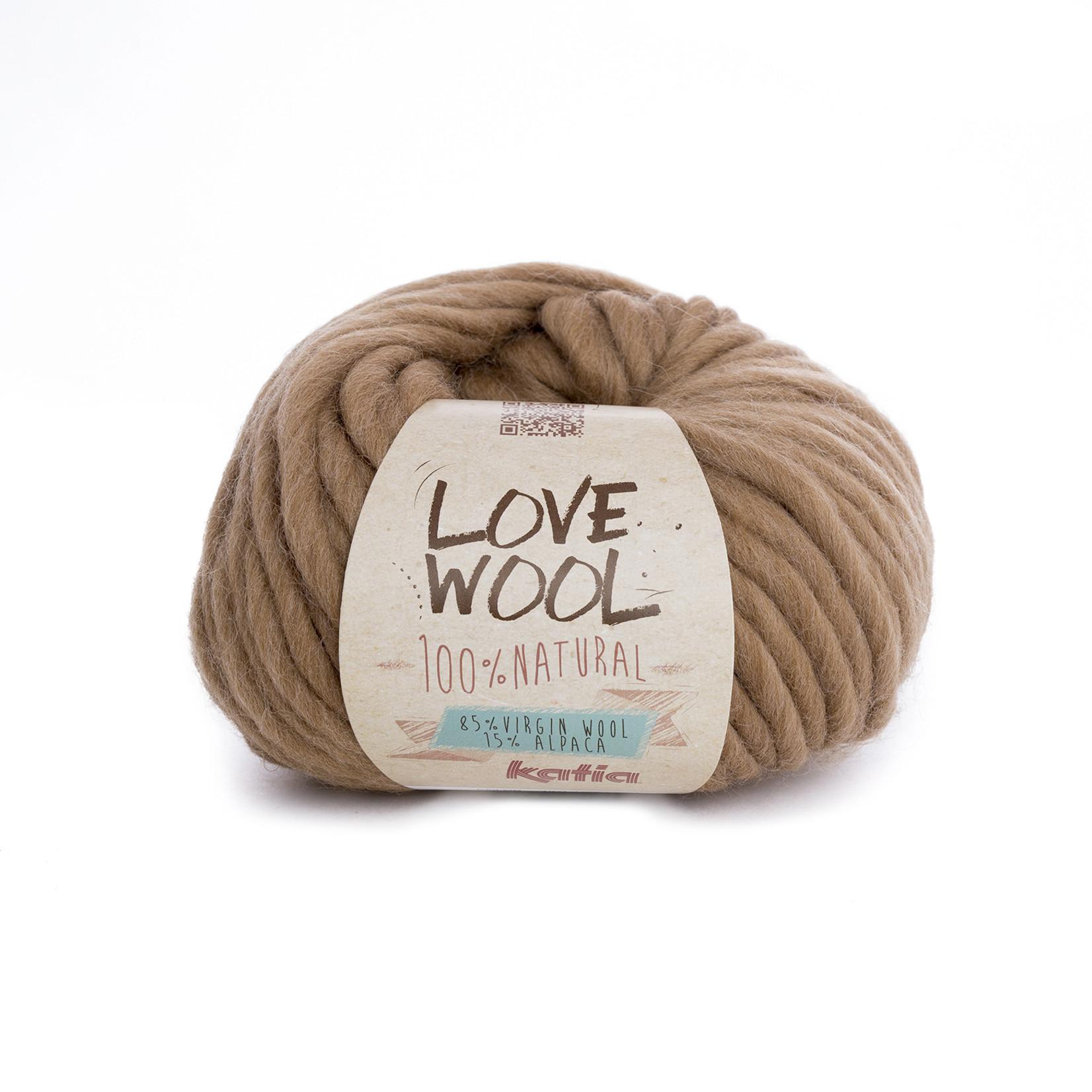 Katia Katia - Love Wool - kleur 120 - Camel - 100 gr. = 50 m.