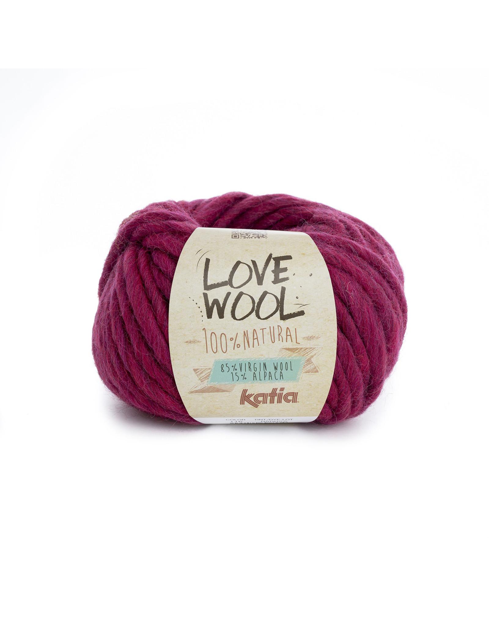 Katia Katia - Love Wool - kleur 116 - Fuchsia - 100 gr. = 50 m.