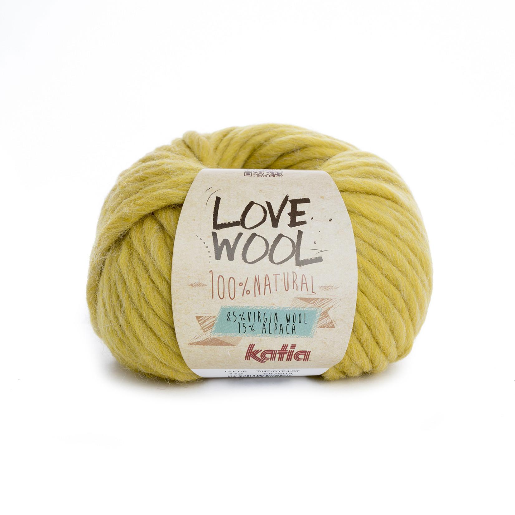 Katia Katia - Love Wool - kleur 112 - Oker - 100 gr. = 50 m.