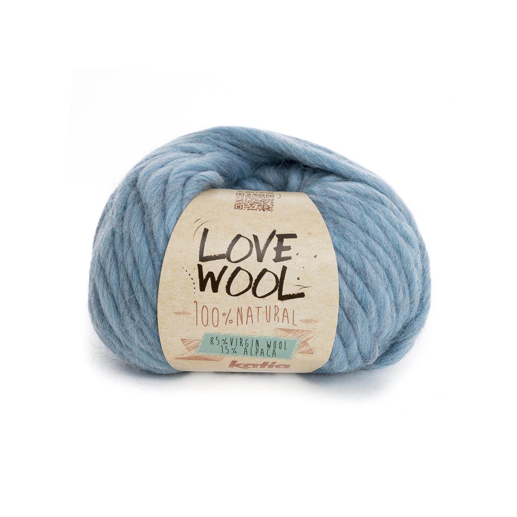 Katia Katia - Love Wool - kleur 110 - Licht blauw - 100 gr. = 50 m.