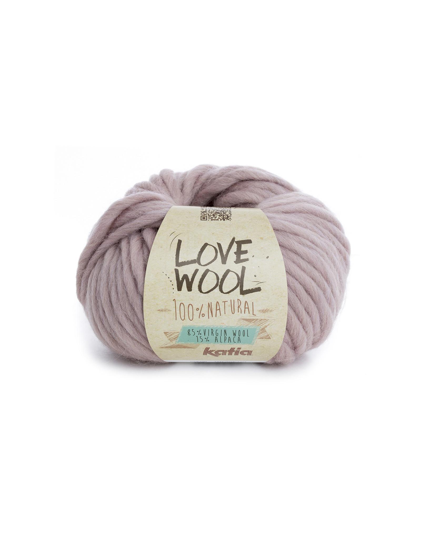 Katia Katia - Love Wool - kleur 109 - Medium bleekrood - 100 gr. = 50 m.