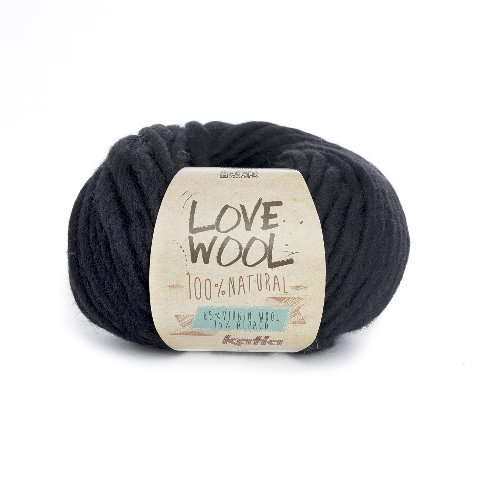 Katia Katia - Love Wool - kleur 108 - Zwart - 100 gr. = 50 m.