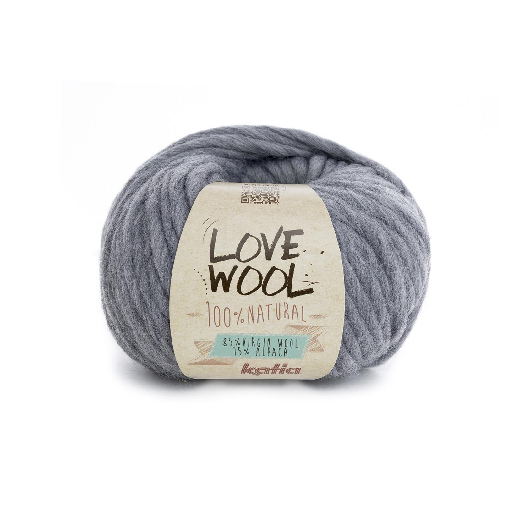 Katia Katia - Love Wool - kleur 106 - Licht grijs - 100 gr. = 50 m.