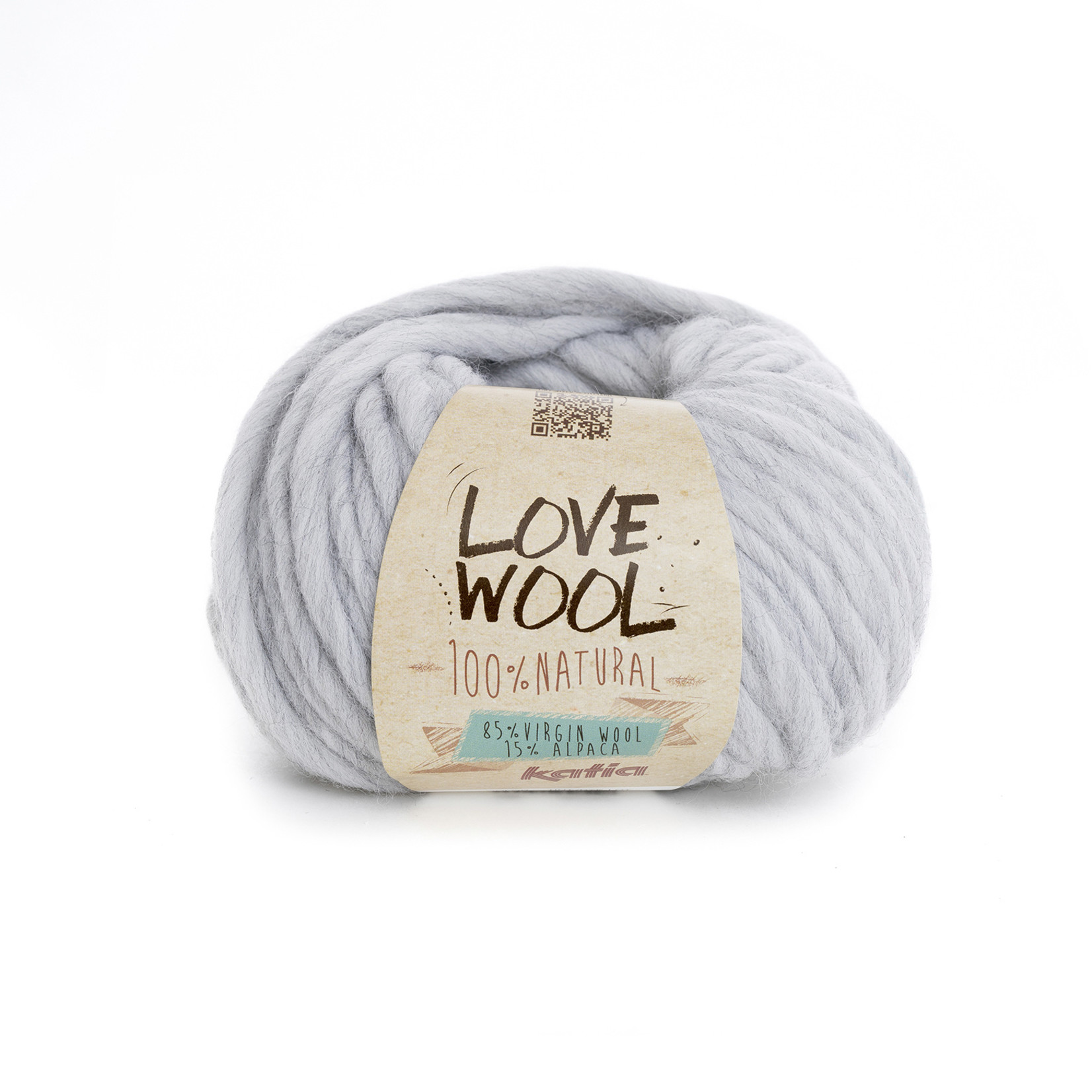 Katia Katia - Love Wool - kleur 105 - Parelmoer-lichtgrijs - 100 gr. = 50 m.