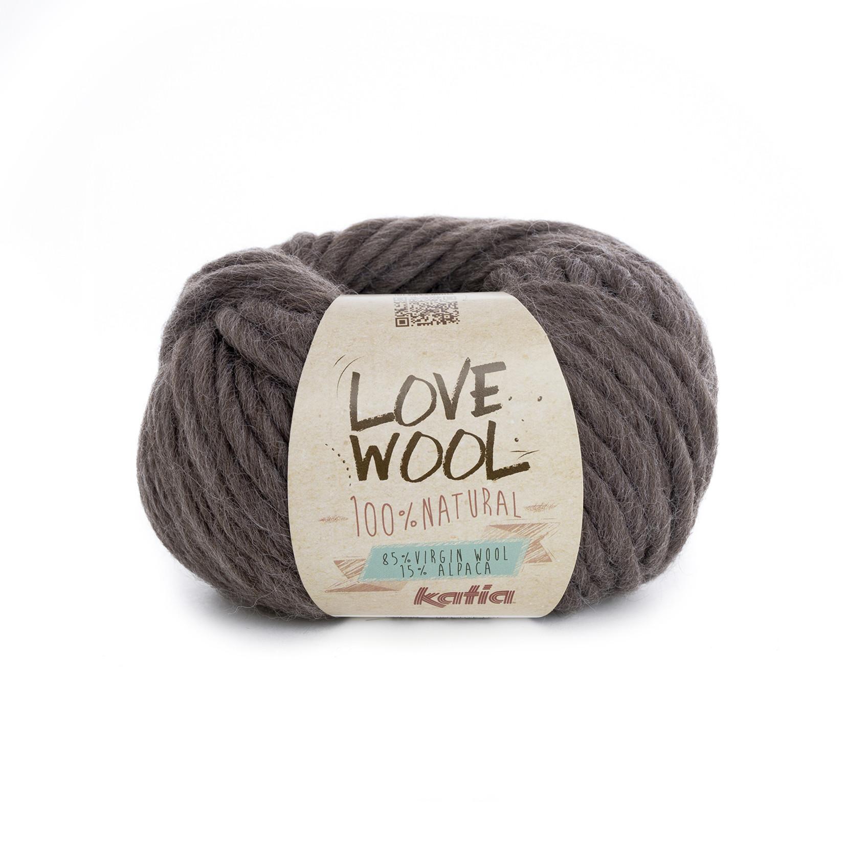 Katia Katia - Love Wool - kleur 103 - Donker bruin - 100 gr. = 50 m.