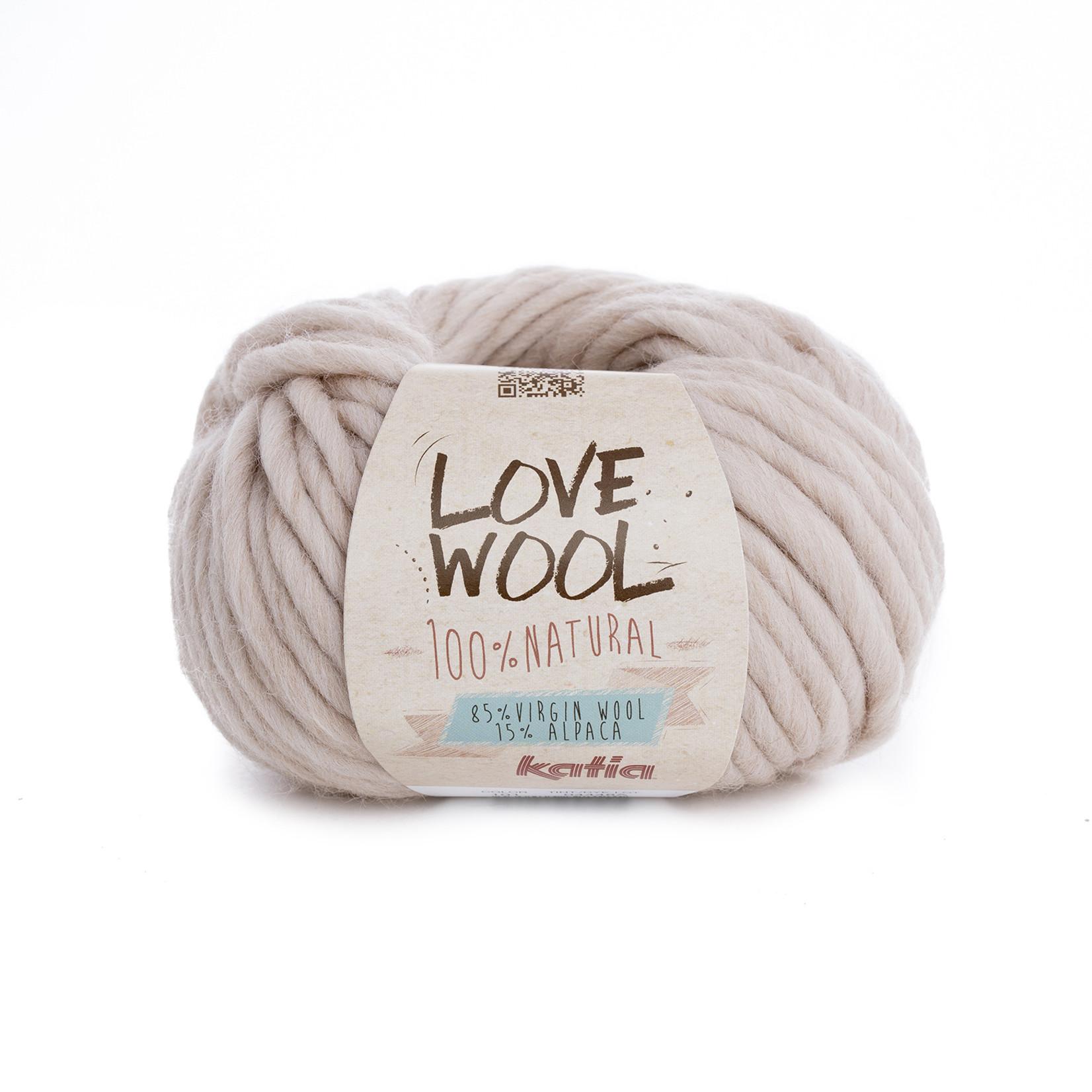 Katia Katia - Love Wool - kleur 101 - Licht beige - 100 gr. = 50 m.
