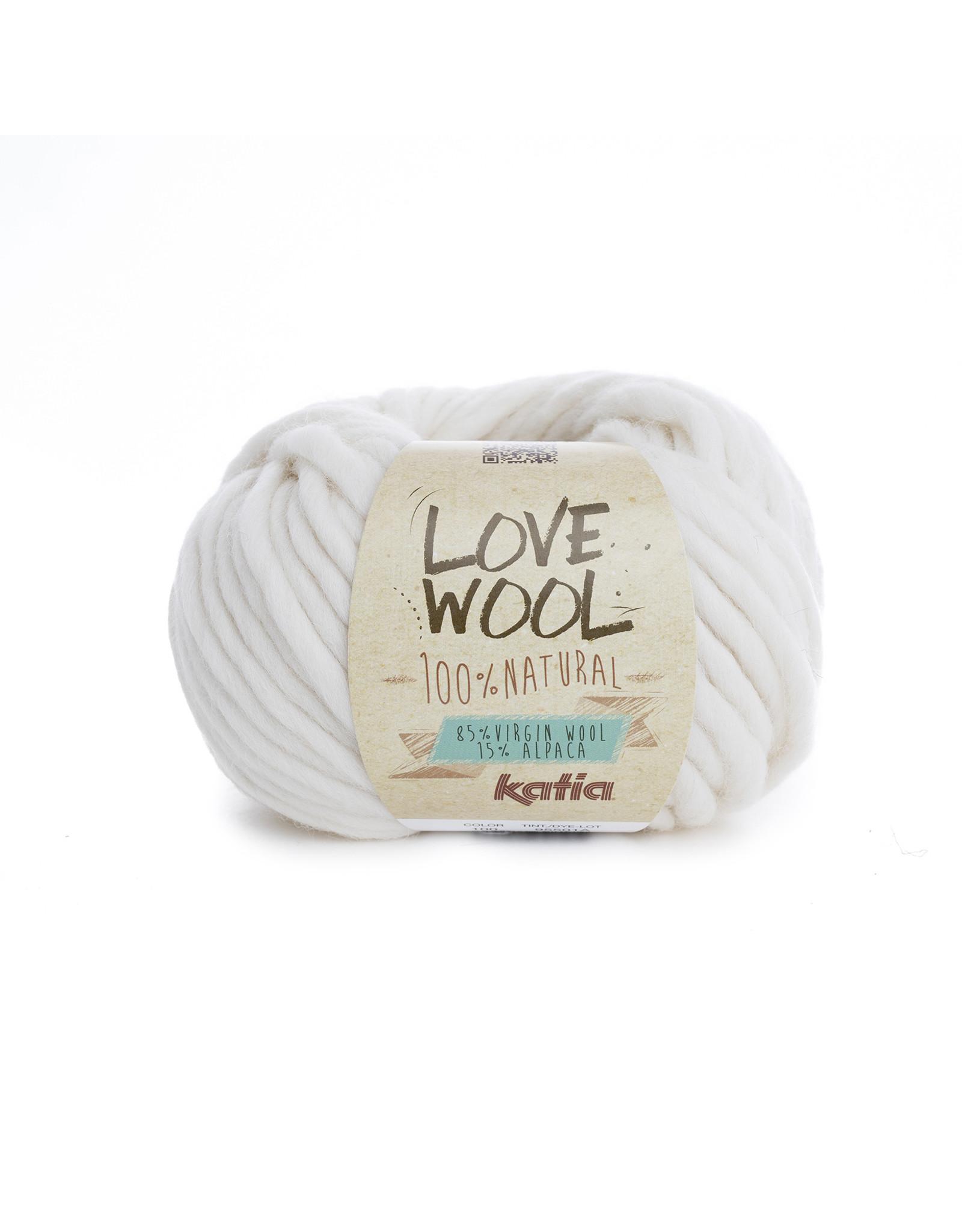 Katia Katia - Love Wool - kleur 100 - Ecru - 100 gr. = 50 m.