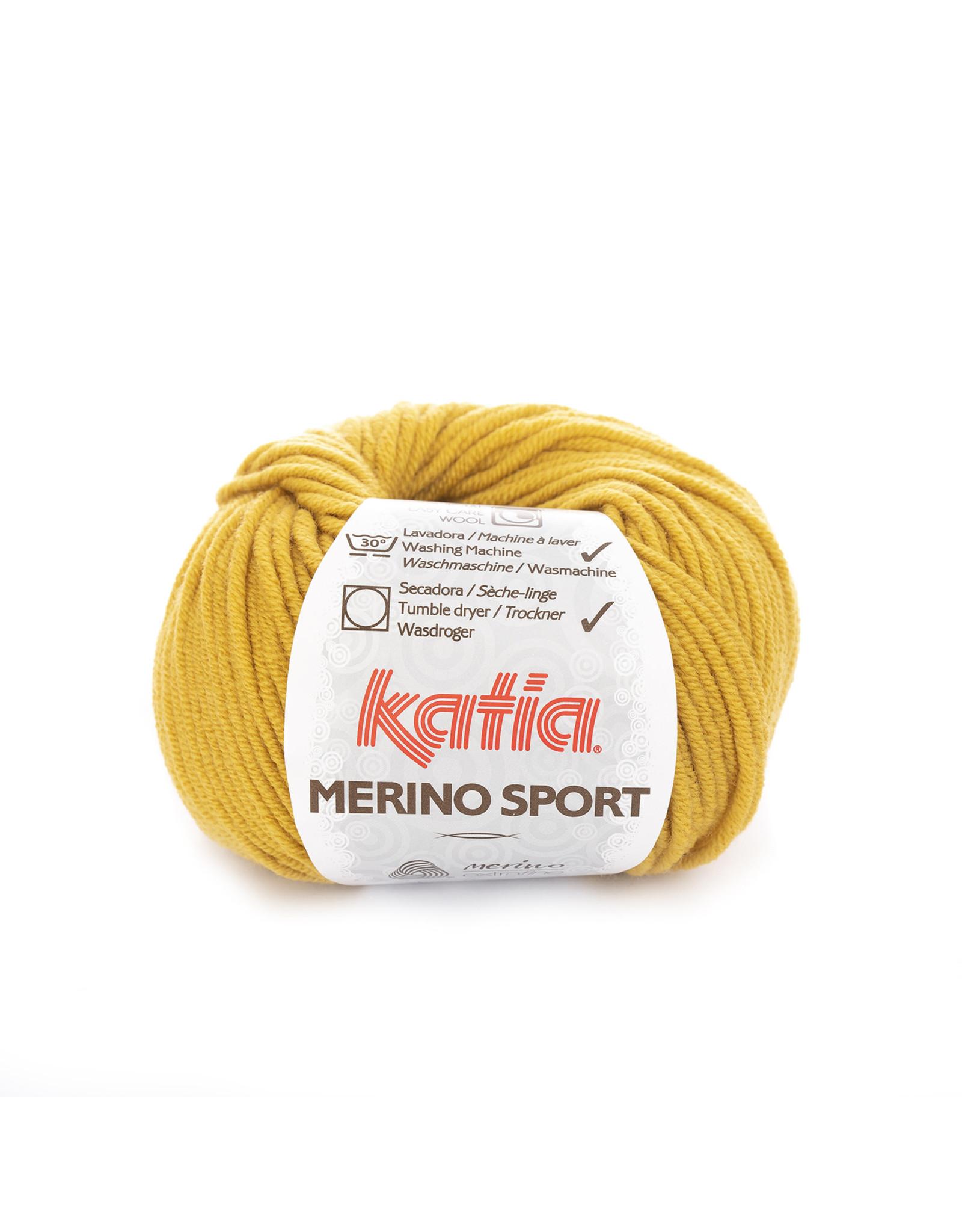 Katia Katia - Merino Sport - 44 Mosterdgeel - 50 gr.