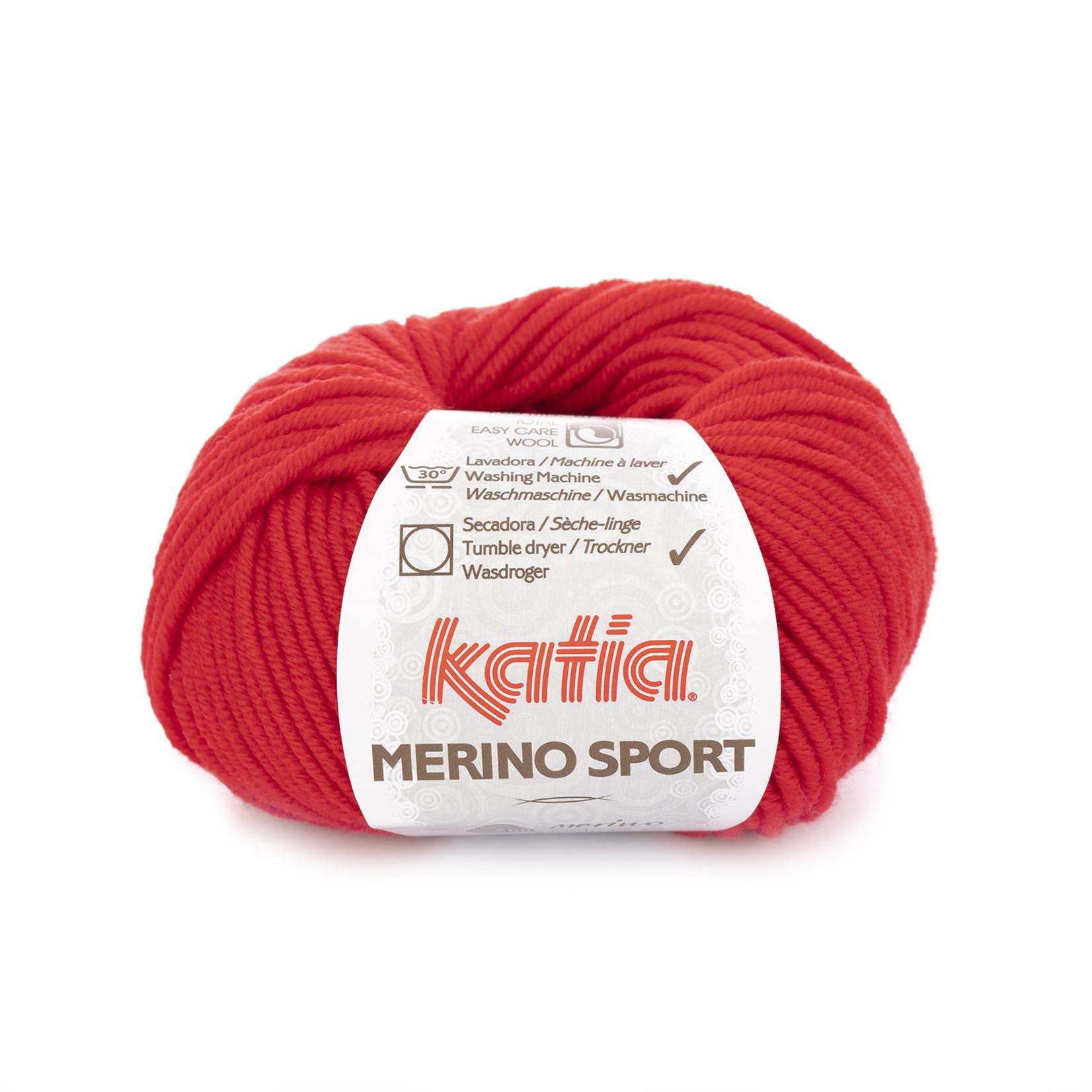 Katia Katia - Merino Sport - 4 Rood - 50 gr.