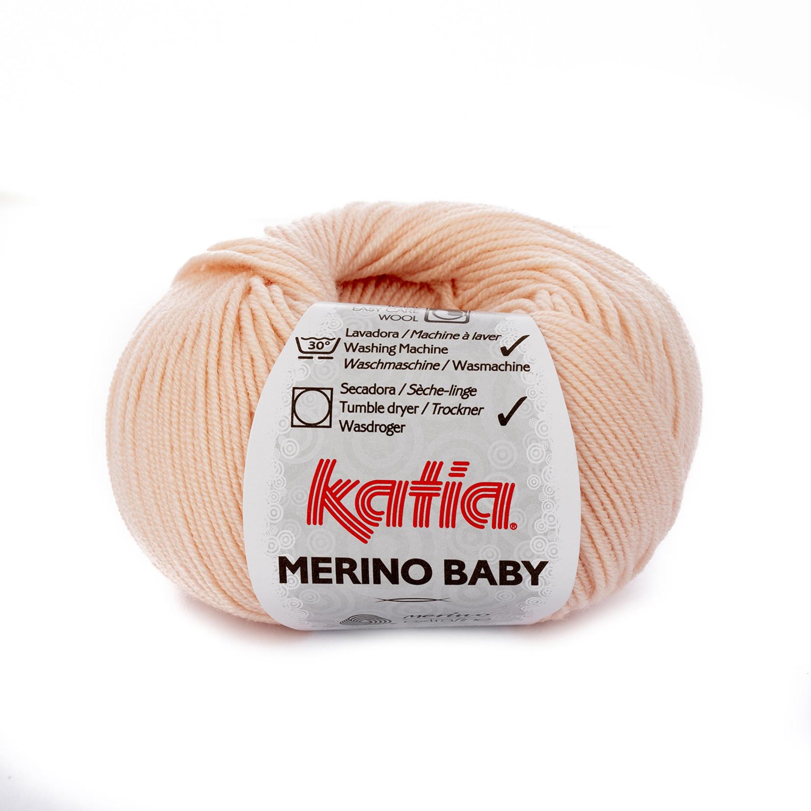Katia Katia Merino Baby - 81 - Zeer licht bleekrood - 50 gr. = 165 m.