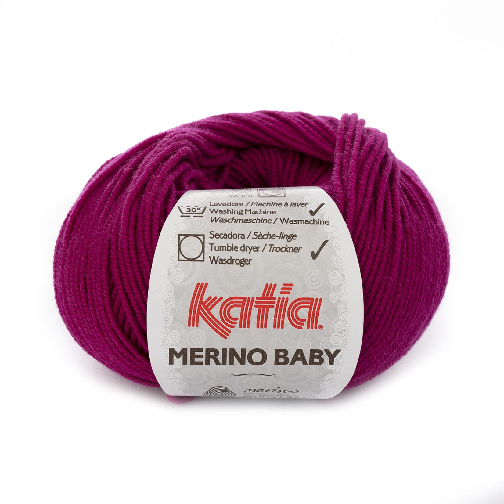 Katia Katia Merino Baby - 61 donker fuchsia - 50 gr. = 165 m.