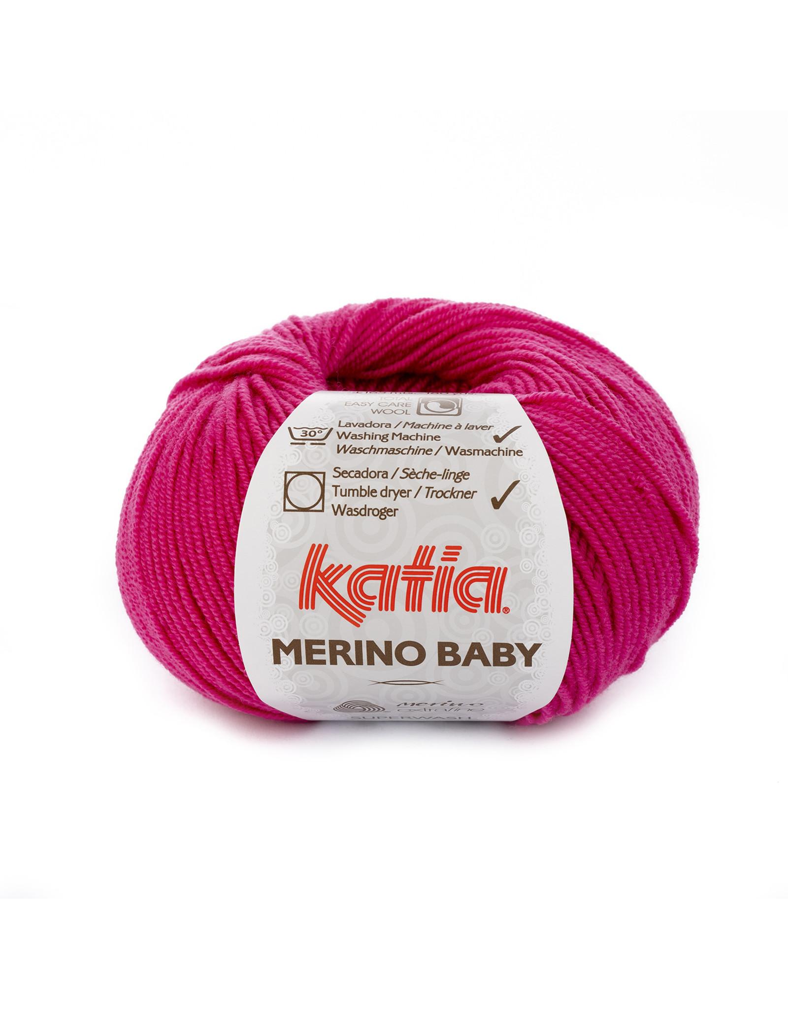 Katia Katia Merino Baby - 60 fuchsia - 50 gr. = 165 m.