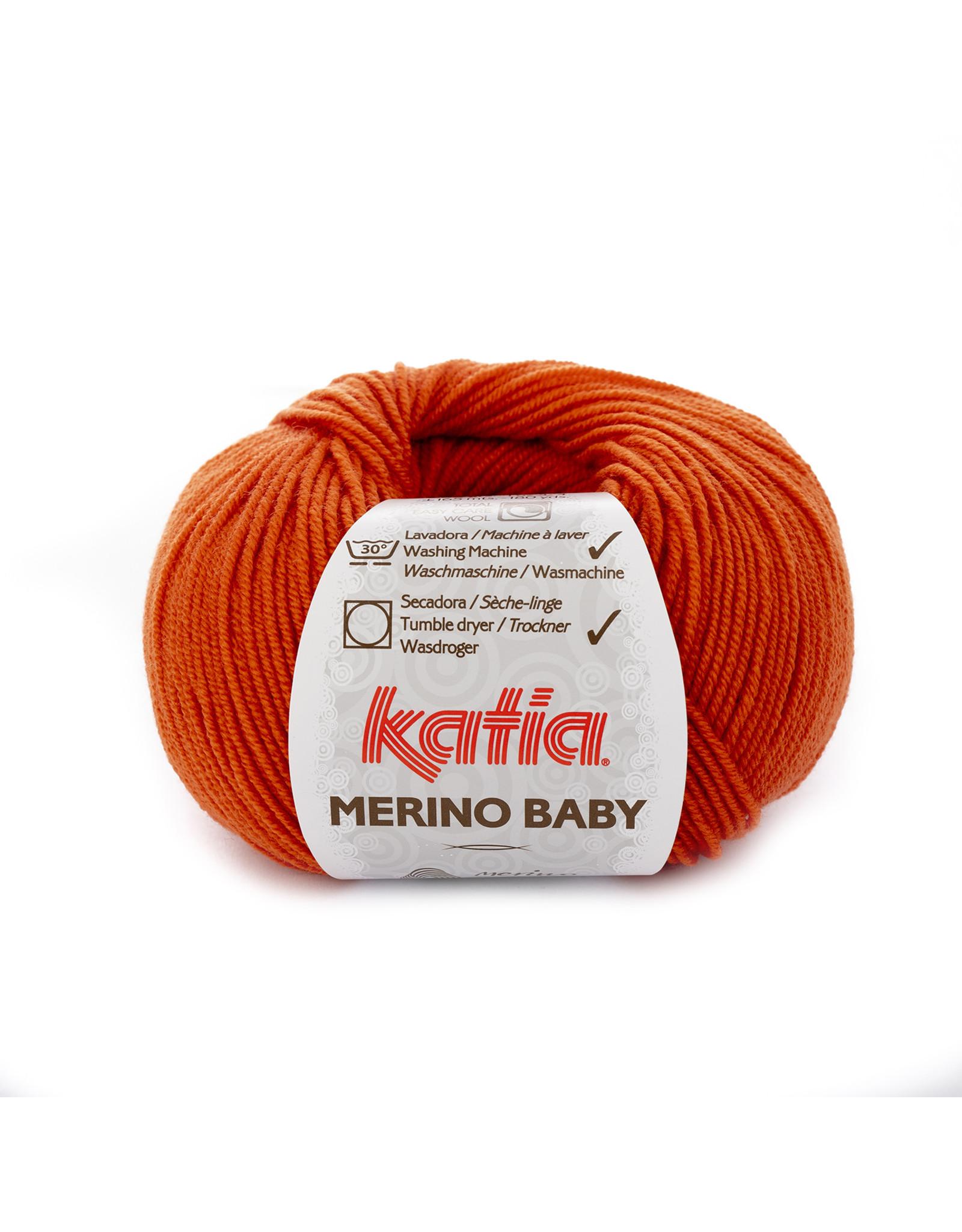 Katia Katia Merino Baby - 49 oranje - 50 gr. = 165 m.