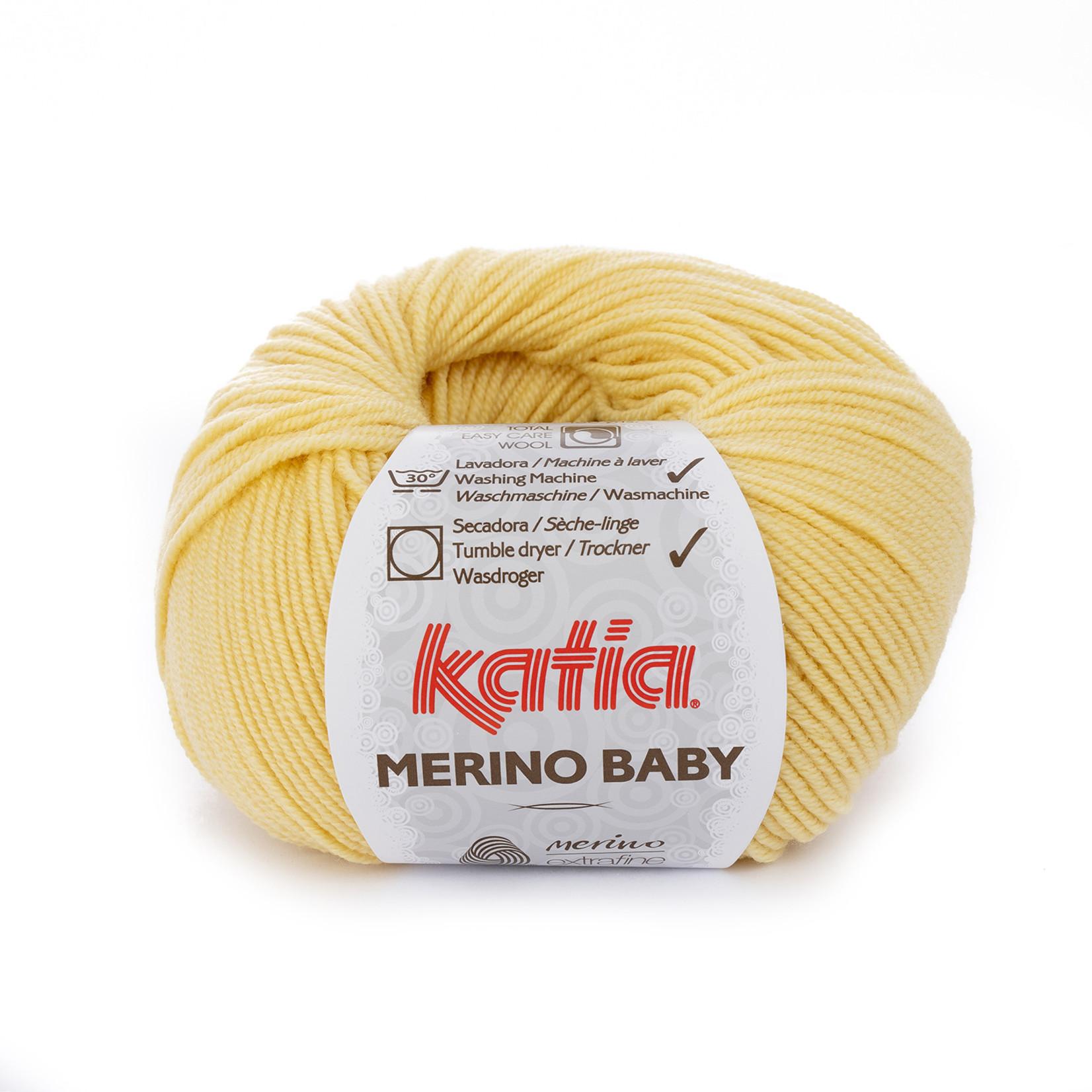Katia Katia Merino Baby - 37 geel - 50 gr. = 165 m.