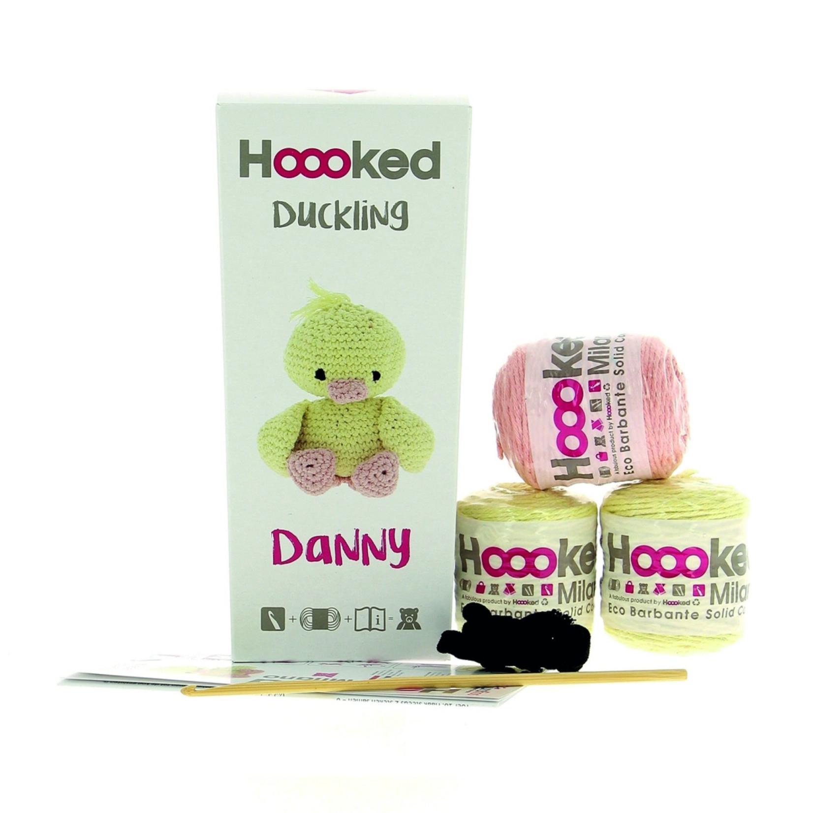 Hoooked Hoooked Amigurumi DIY Haakpakket Eendje Danny Eco Barbante Biscuit