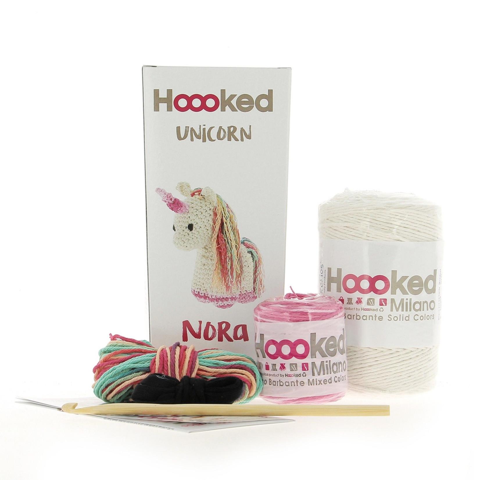 Hoooked Hoooked Amigurumi DIY Haakpakket Eenhoorn Nora Eco Barbante