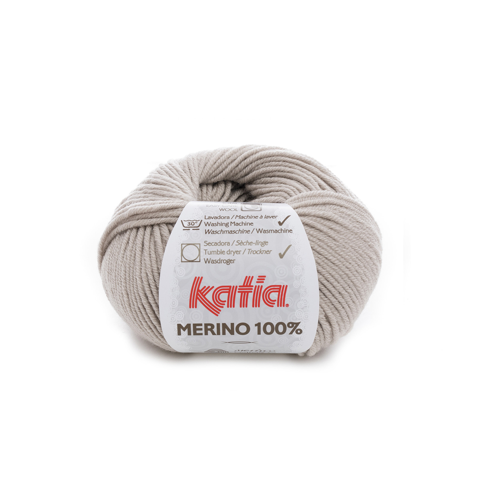 Katia Katia Merino 100% - 40 - Steengrijs_ - 50 gr. = 102 m.
