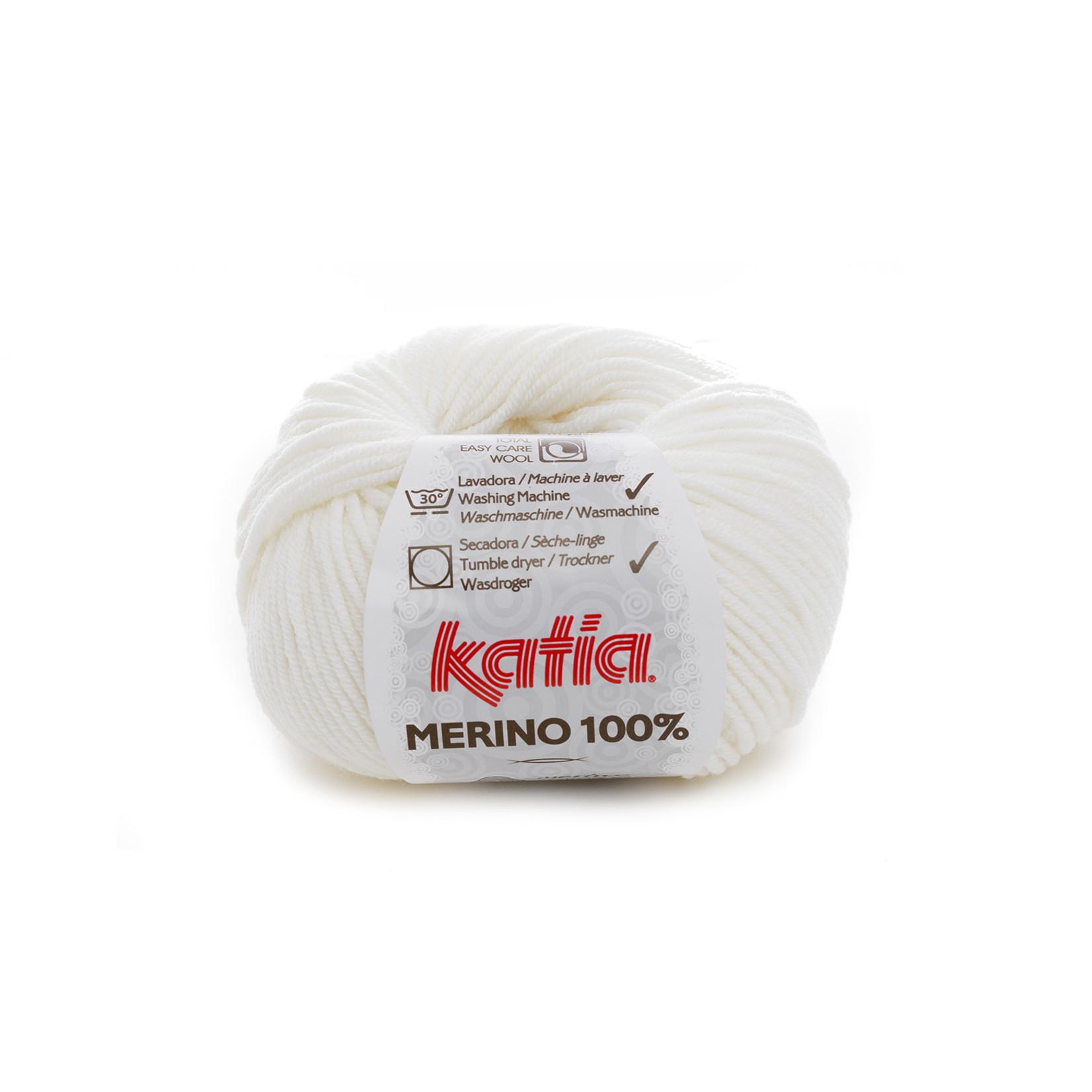 Katia Katia Merino 100% - 1 - Wit_ - 50 gr. = 102 m.
