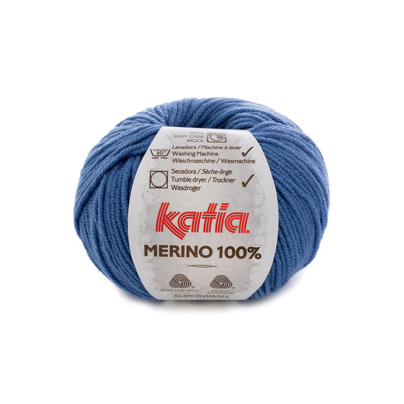 Katia Katia Merino 100% - 78 - Denim - 50 gr. = 102 m.