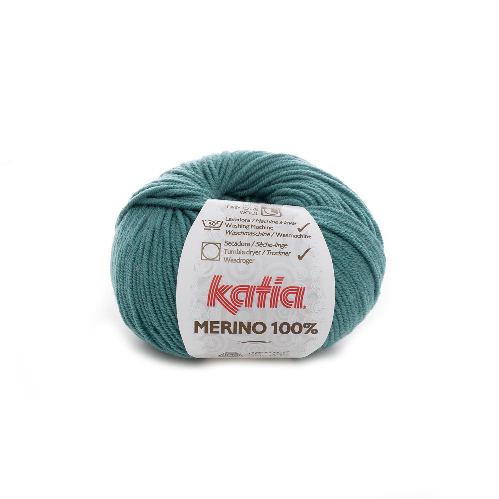Katia Katia Merino 100% - 54 - Groen_ - 50 gr. = 102 m.